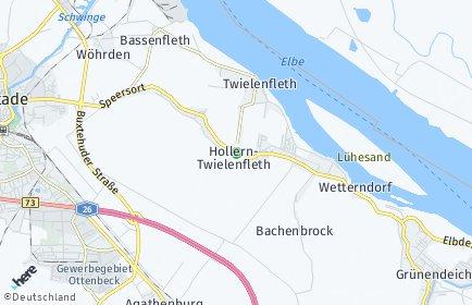 Stadtplan Hollern-Twielenfleth