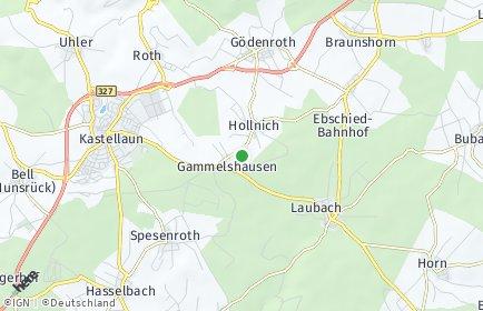 Stadtplan Hollnich bei Kastellaun