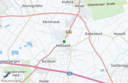 Stadtplan Holtland