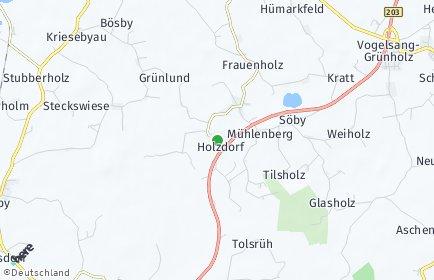 Stadtplan Holzdorf (Schleswig-Holstein)