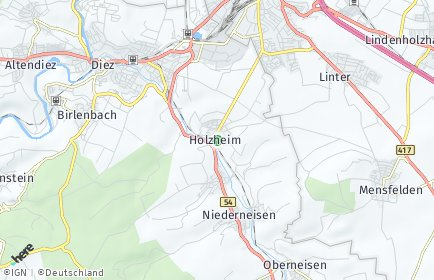 Stadtplan Holzheim (Aar)