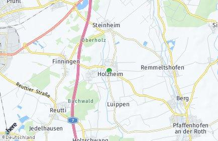 Stadtplan Holzheim bei Neu-Ulm