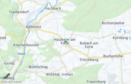 Stadtplan Holzheim am Forst