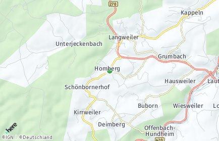 Stadtplan Homberg bei Lauterecken