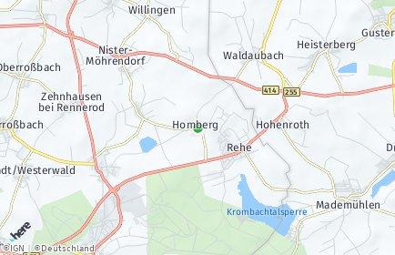 Stadtplan Homberg (Westerwald)