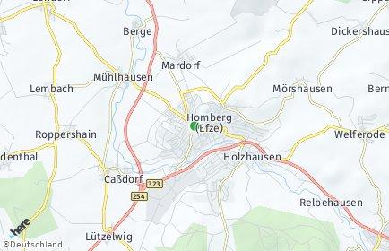 Stadtplan Homberg (Efze)