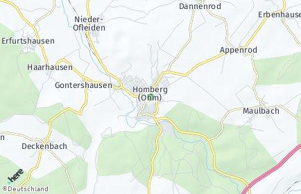 Stadtplan Homberg (Ohm)