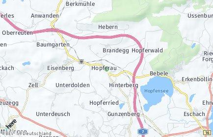 Stadtplan Hopferau