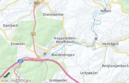 Stadtplan Hoppstädten-Weiersbach