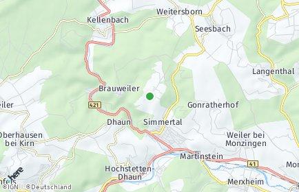 Stadtplan Horbach bei Simmertal