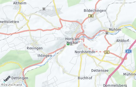 Stadtplan Horb am Neckar