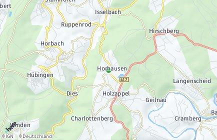 Stadtplan Horhausen (Nassau)