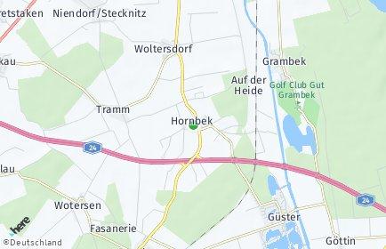Stadtplan Hornbek