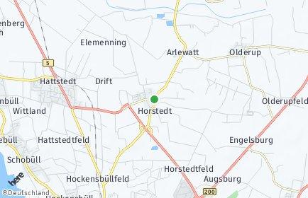 Stadtplan Horstedt (Nordfriesland)