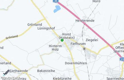 Stadtplan Horst (Holstein)