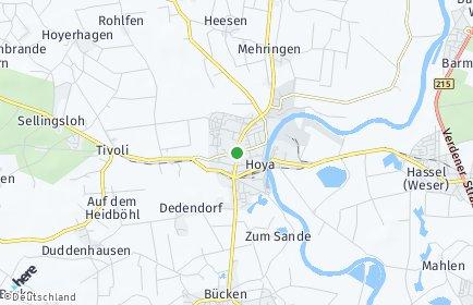 Stadtplan Hoya