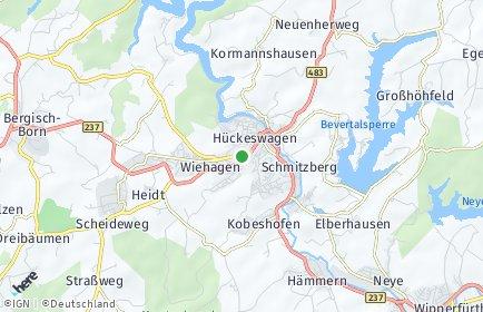 Stadtplan Hückeswagen