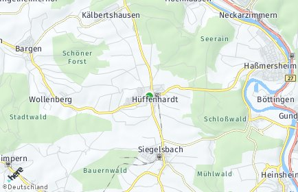 Stadtplan Hüffenhardt OT Kälbertshausen