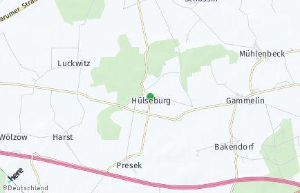 Stadtplan Hülseburg