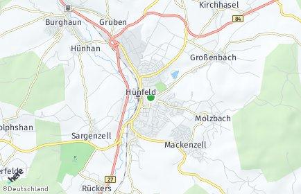 Stadtplan Hünfeld