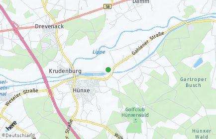 Stadtplan Hünxe OT Drevenack