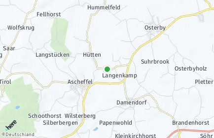 Stadtplan Hütten (Schleswig)