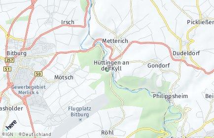 Stadtplan Hüttingen an der Kyll