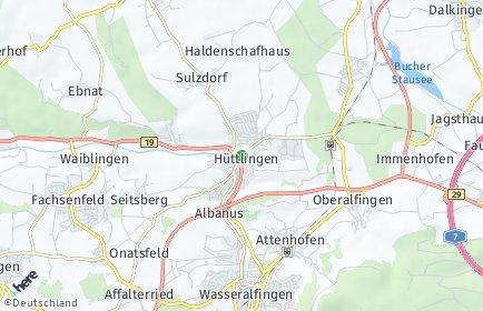 Stadtplan Hüttlingen