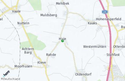 Stadtplan Huje