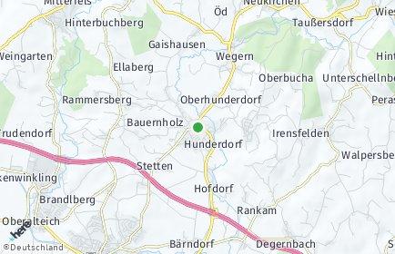 Stadtplan Hunderdorf