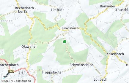 Stadtplan Hundsbach bei Kirn