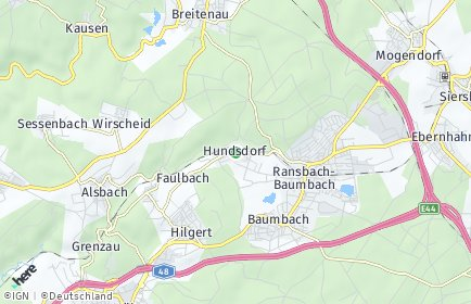 Stadtplan Hundsdorf
