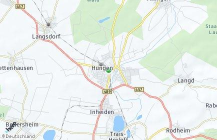 Stadtplan Hungen