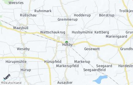 Stadtplan Husby OT Voldewraa