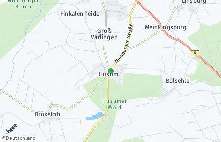 Stadtplan Husum bei Nienburg
