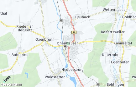 Stadtplan Ichenhausen