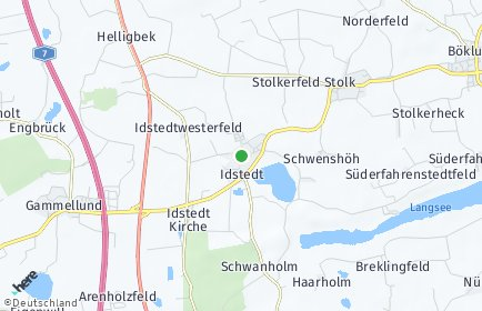 Stadtplan Idstedt