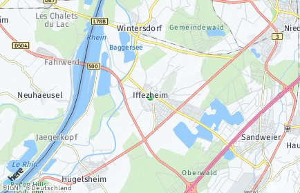 Stadtplan Iffezheim