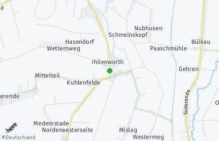 Stadtplan Ihlienworth