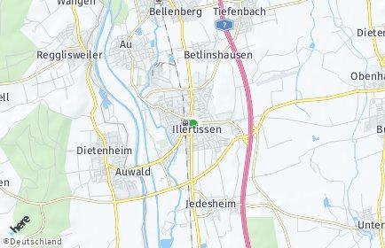 Stadtplan Illertissen OT Au bei Illertissen