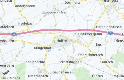 Stadtplan Ilshofen OT Oberscheffach