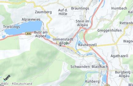 Stadtplan Immenstadt im Allgäu
