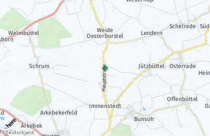 Stadtplan Immenstedt bei Albersdorf