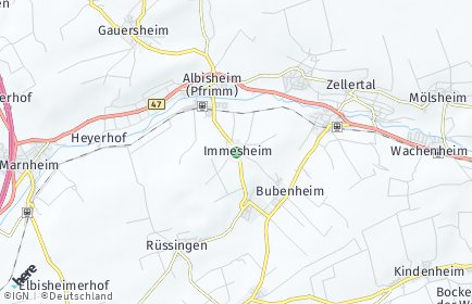 Stadtplan Immesheim