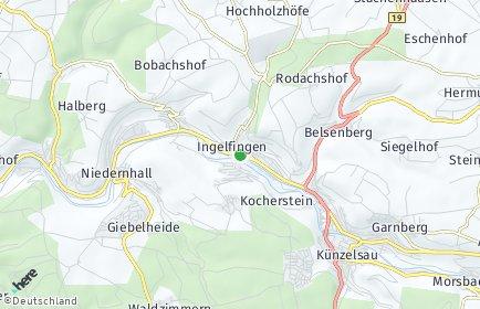 Stadtplan Ingelfingen
