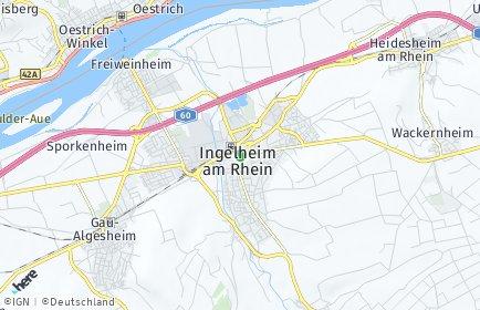 Stadtplan Ingelheim am Rhein OT Heidesheim