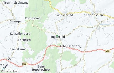 Stadtplan Ingenried
