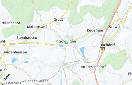 Stadtplan Ingoldingen OT Hinterweiler