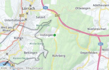 Stadtplan Inzlingen