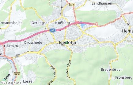 Stadtplan Iserlohn OT Hemberg